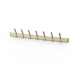 1200mm 7 Hook Coat Rack