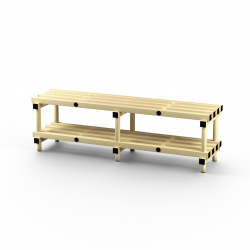 1500mm x 400mm Plastic Bench