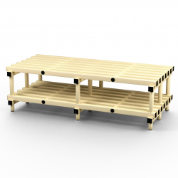 1500mm x 755mm Plastic Bench