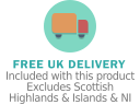 Free UK delivery with this product. Excludes Scottish Highlands & Islands and NI.